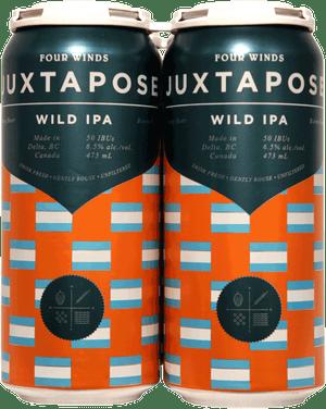 Four Winds Juxtapose Wild IPA 4 Pack 473ml