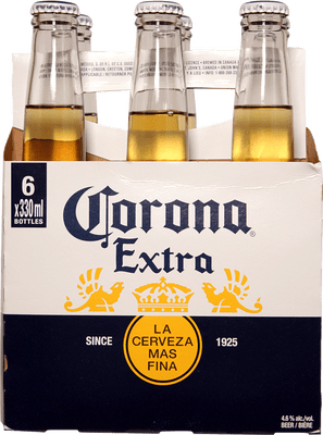 Corona Extra 6 Pack Bottles 330ml