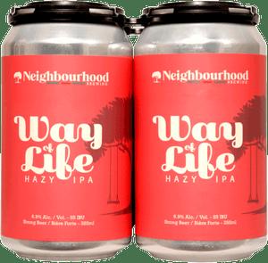 Neighbourhood Way of Life Hazy IPA 4 Pack 355ml
