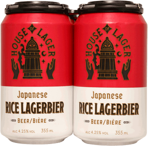 House of Lager Japanese Rice Lager 6 Pack Cans 355ml