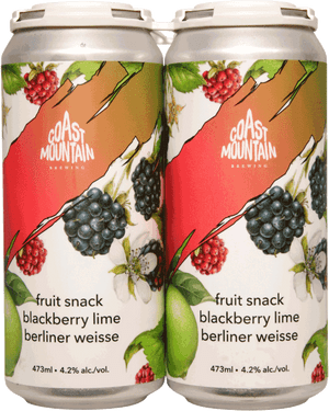 Coast Mountain Fruit Snack Berliner Weisse 4 Pack 473ml