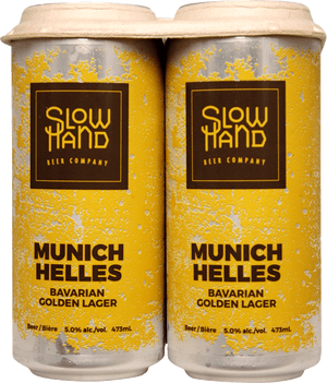 Slow Hand Beer Co. Munich Helles 4 Pack 473ml