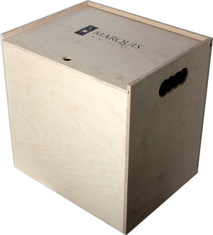 Pine Crate Sliding Top - 12 Bottle (Fancy That)