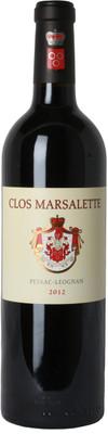 Clos Marsalette 2012 Pessac-Léognan 750ml