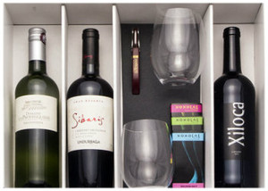 Mwc Holiday Gift Package 3 Wines 2 Glasses Accessories