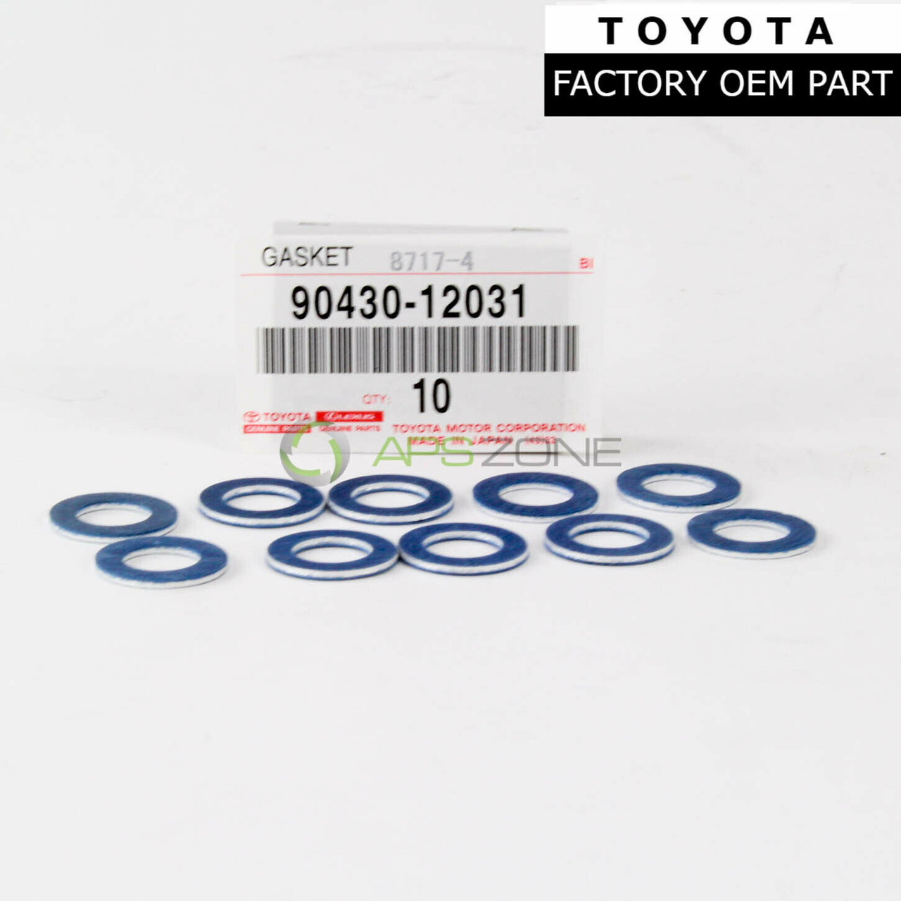 Genuine For Toyota Lexus Oil Drain Plug Washer Gasket Set Of 10 OEM 90430-12031