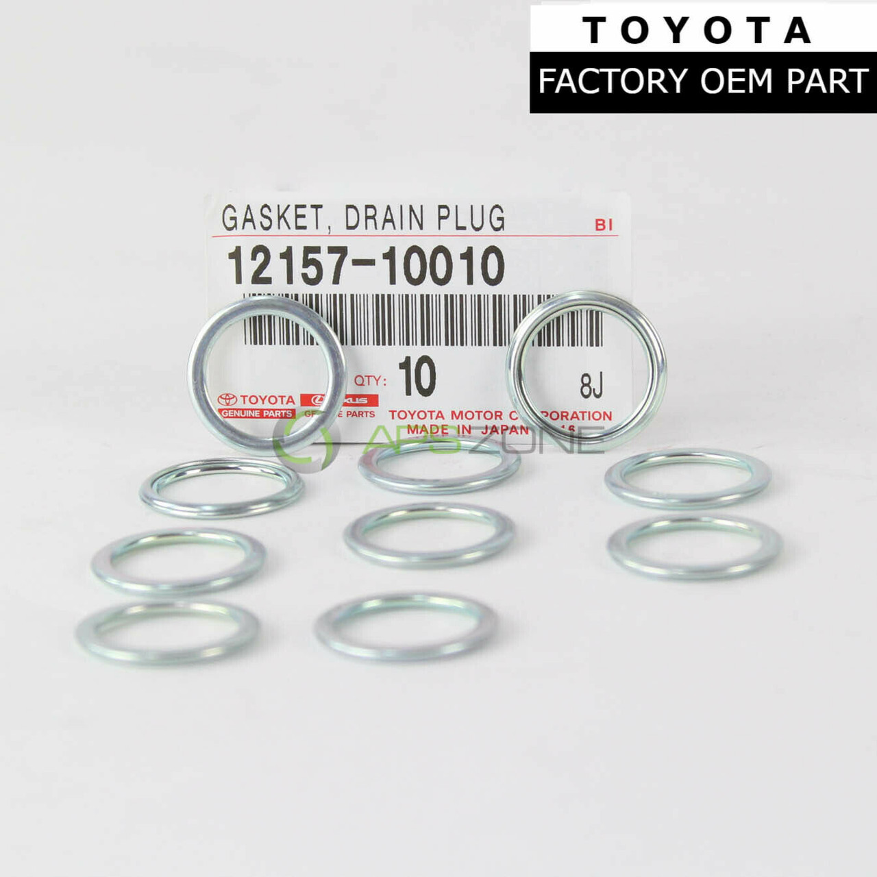OEM FACTORY TOYOTA DRAIN PLUG GASKET WASHER SET OF 10 90430-18008