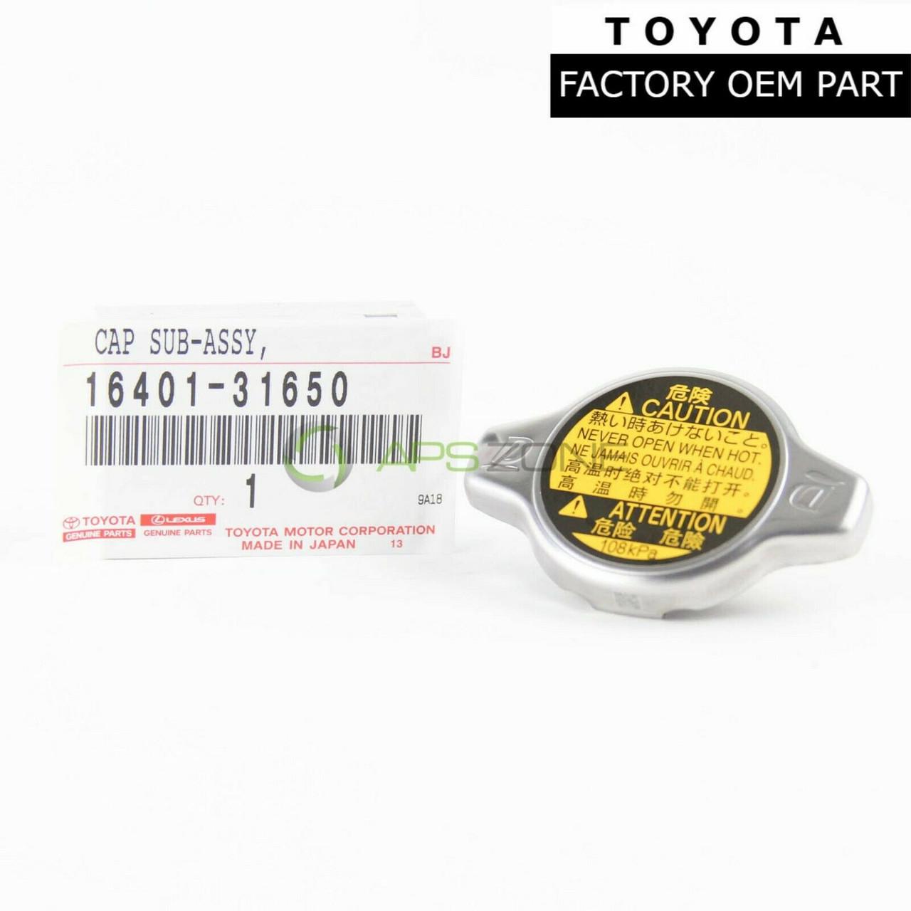Genuine Radiator Cap For Toyota Lexus 4Runner Tacoma 16401-31650