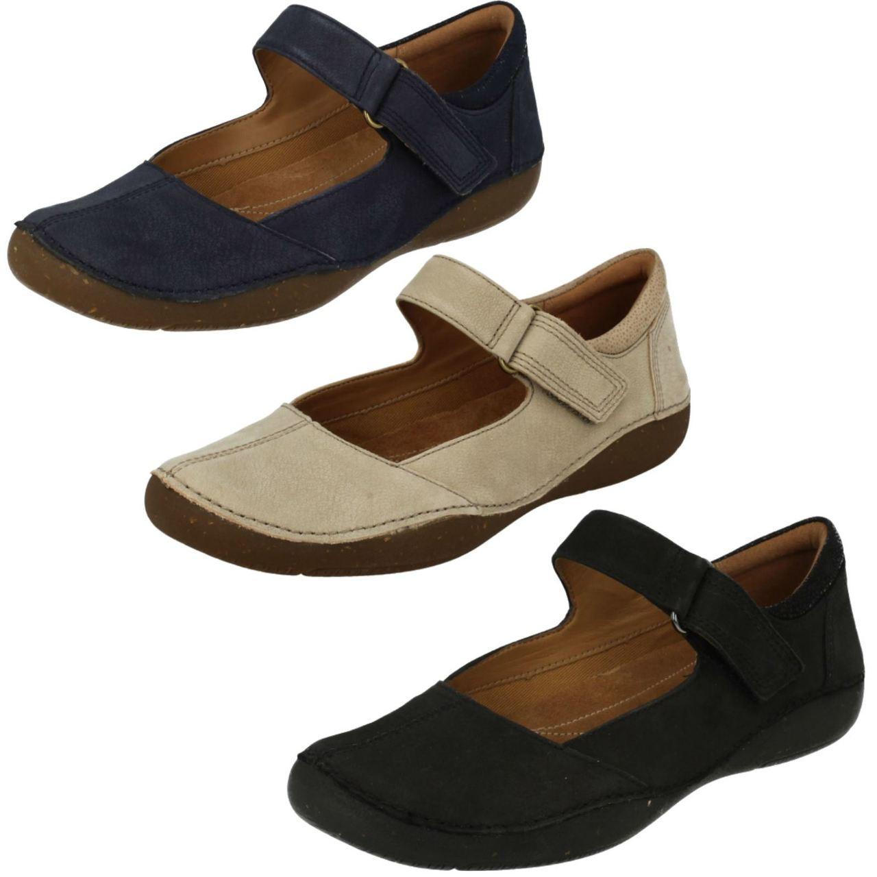 Novela de suspenso Lengua macarrónica Comercialización  Ladies Clarks Casual Flat Shoes Autumn Stone