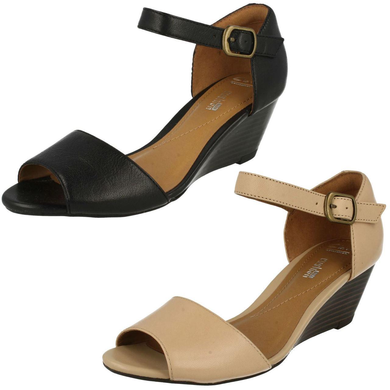Ladies Clarks Smart Wedge Sandals