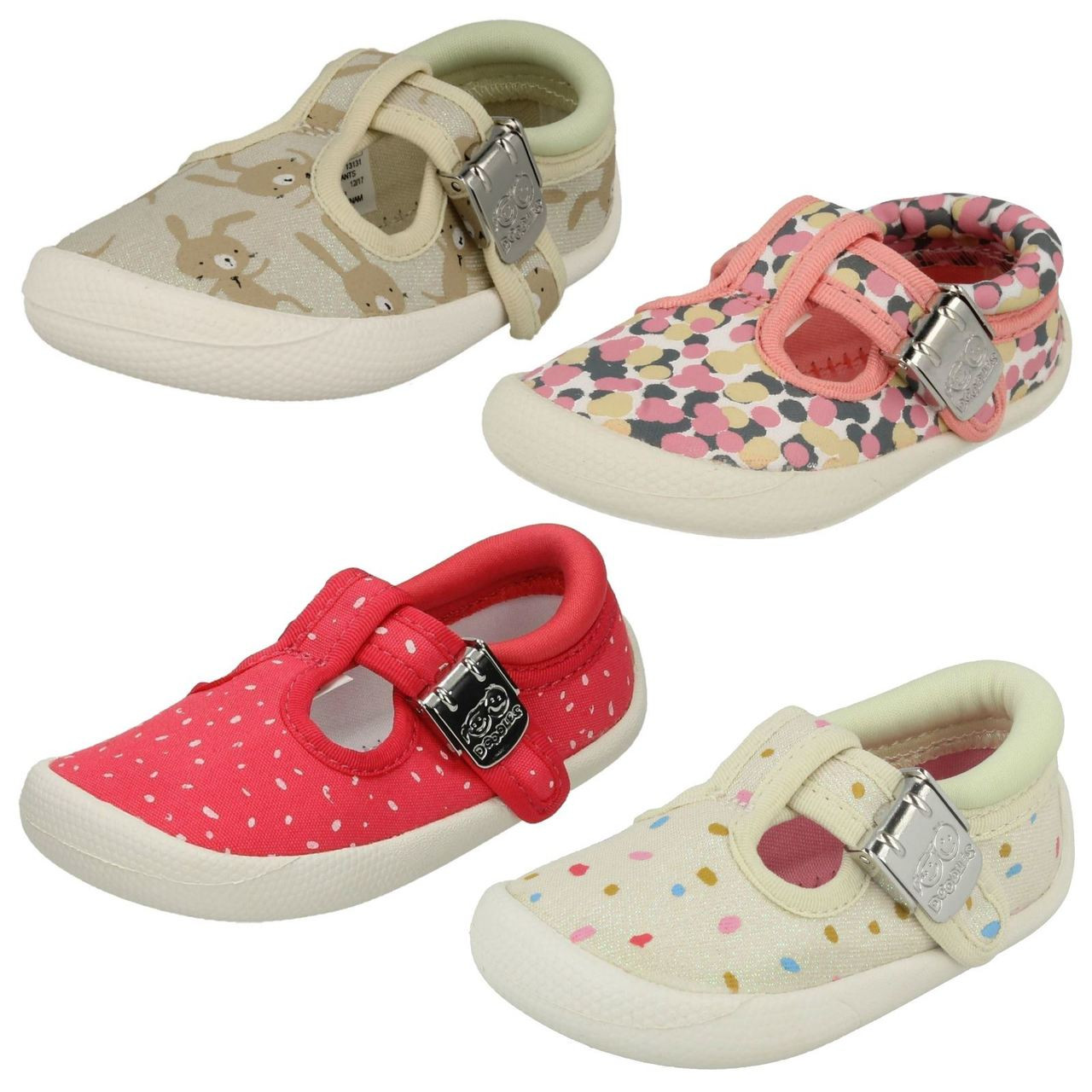Clarks Childrens Canvas Shoes /'Tiny Treasure/'