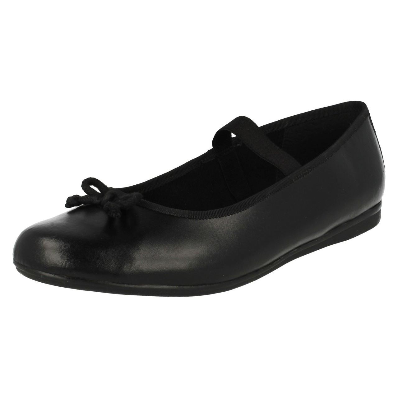 Girls Bootleg By Clarks Patent Toe Cap School Shoes /'Tizz Ace/'
