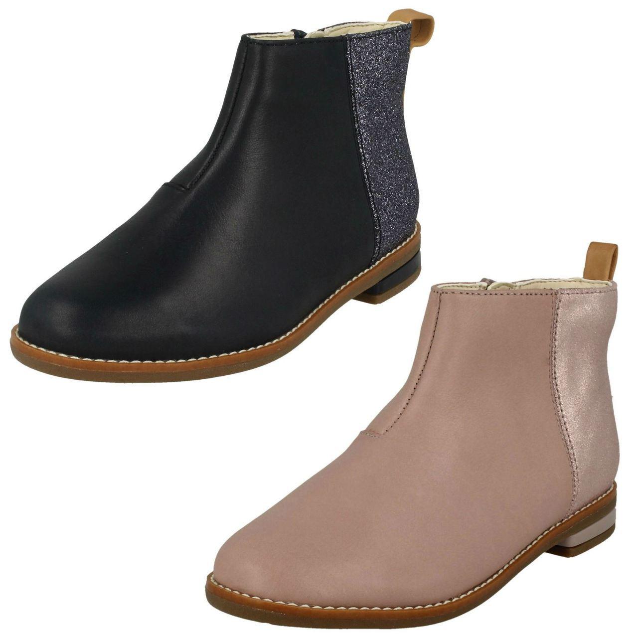 Girls Clarks Smart Ankle Boots Drew Fun