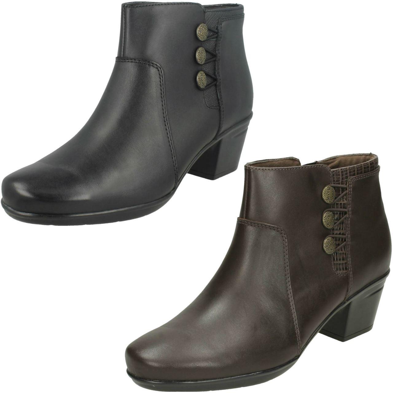 Ladies Clarks Ankle Boots Emslie Monet