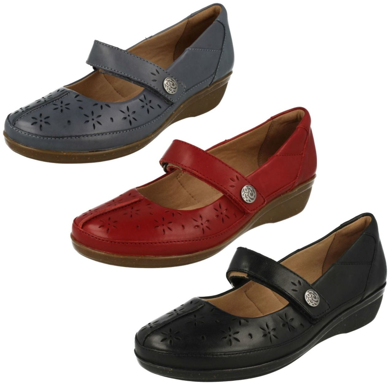 Ladies Clarks Cushion Soft Casual Shoes
