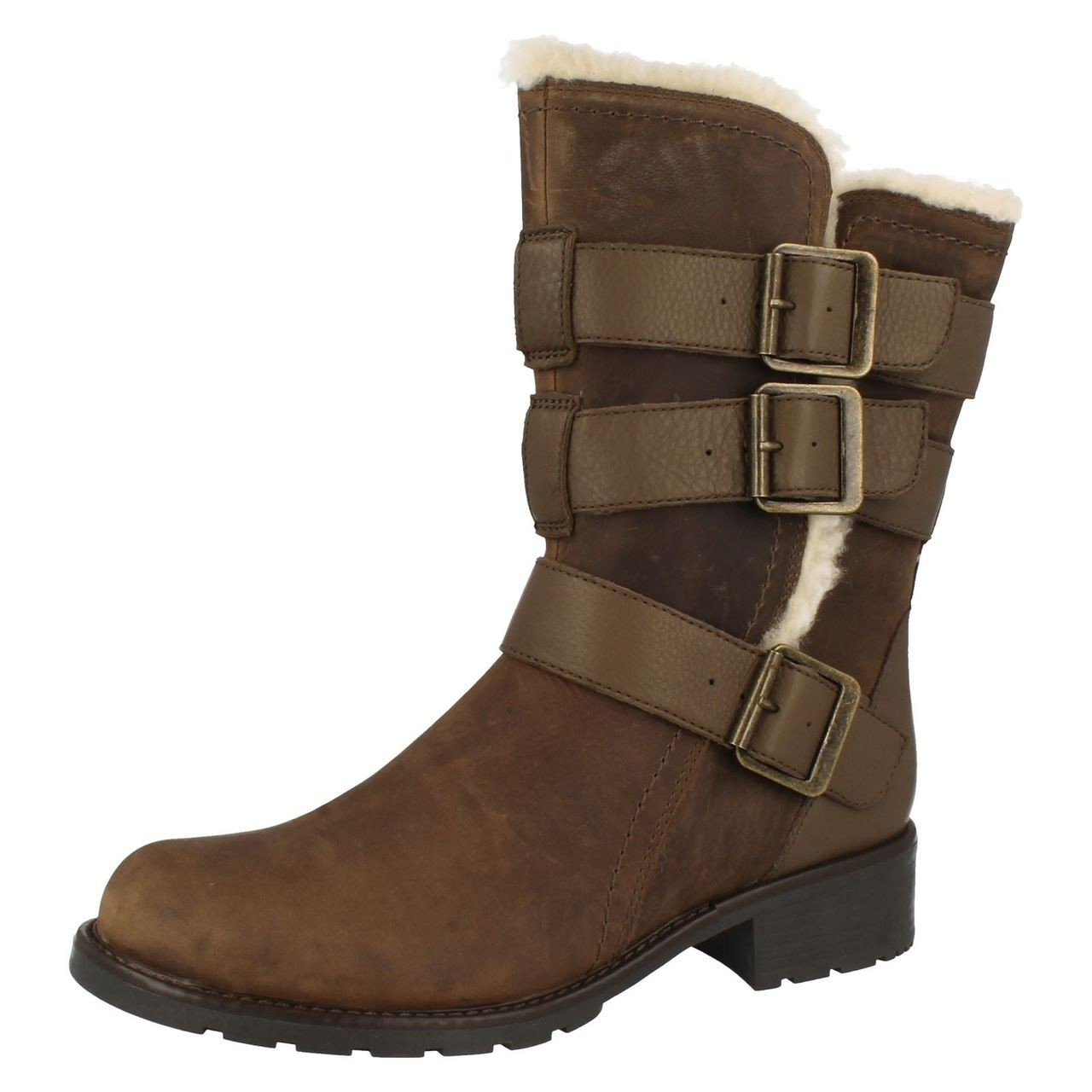 Details about  /Ladies Clarks Utility Style Boots Orinoco Bloom