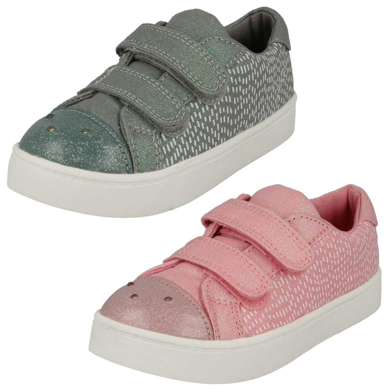 Girls Clarks Casual Canvas Shoes *Gracie Bea*