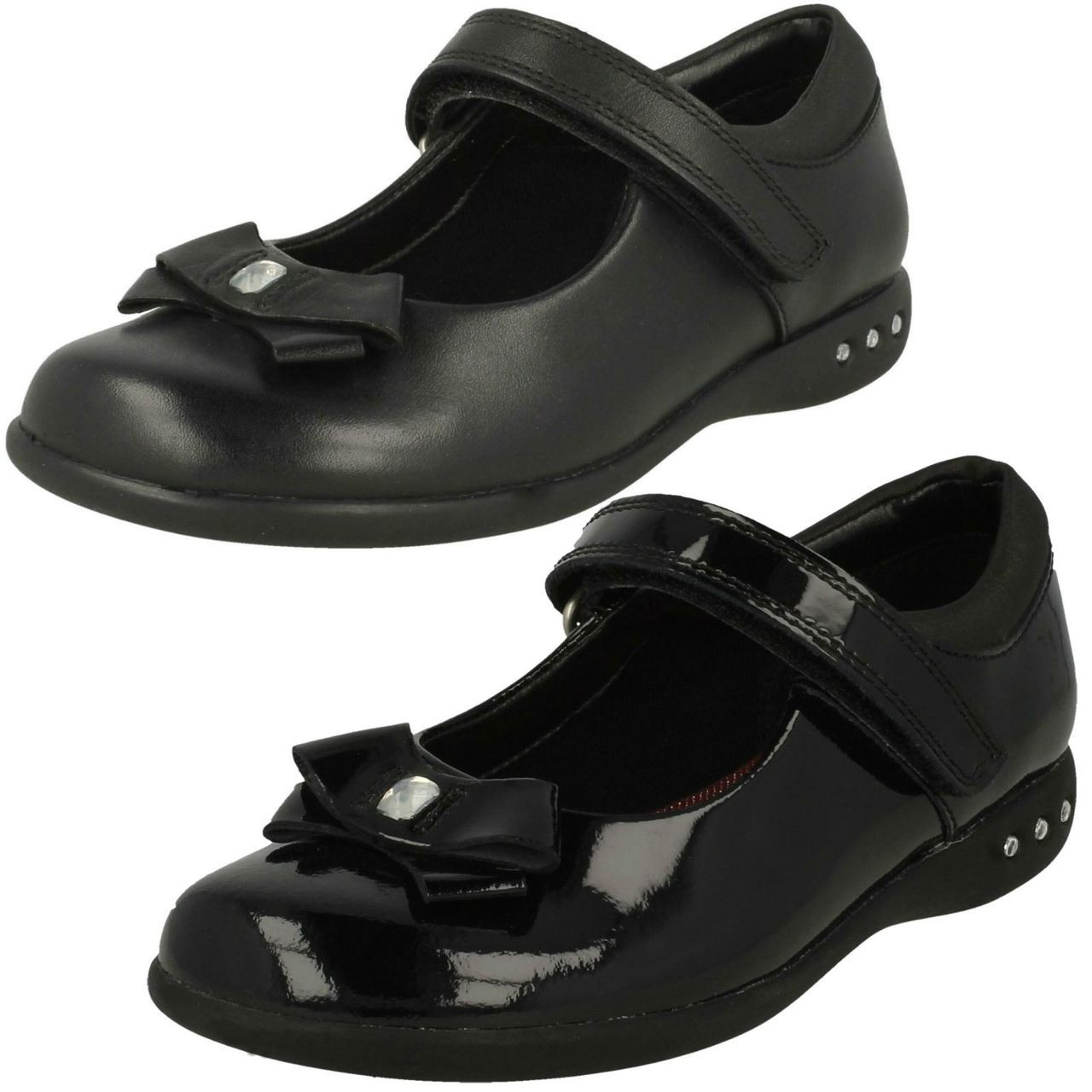 Clarks Girls School Shoes Prime Step