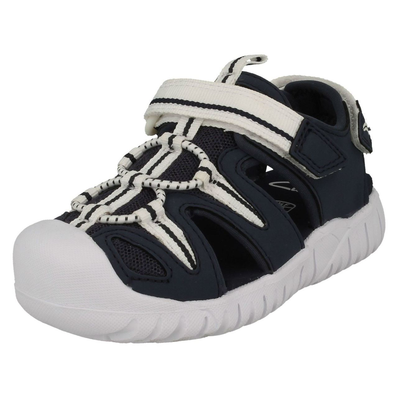 Boys Clarks Casual Trainers Balmy Mix