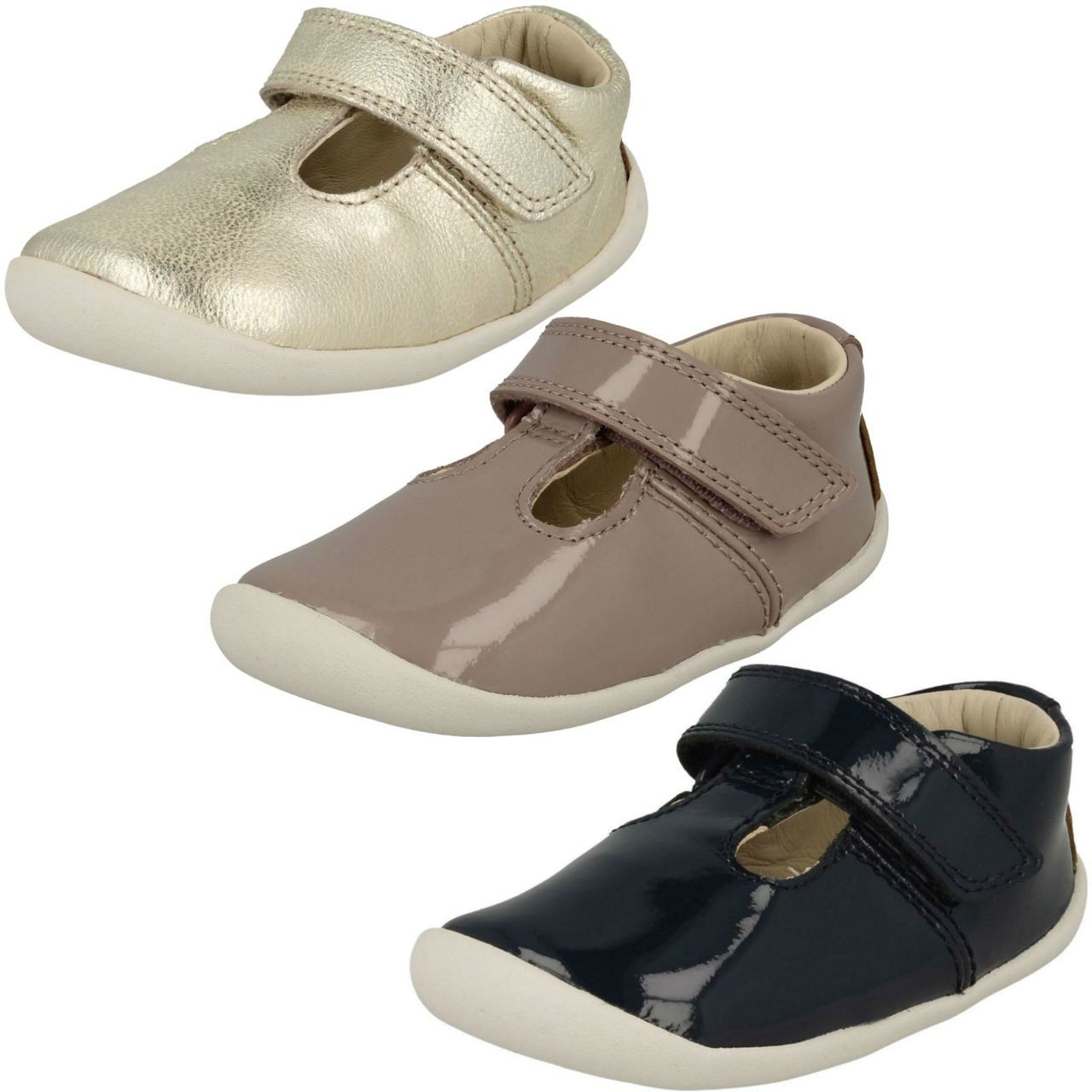 Girls Clarks T-Bar First Shoes /'Litzy Lou/'