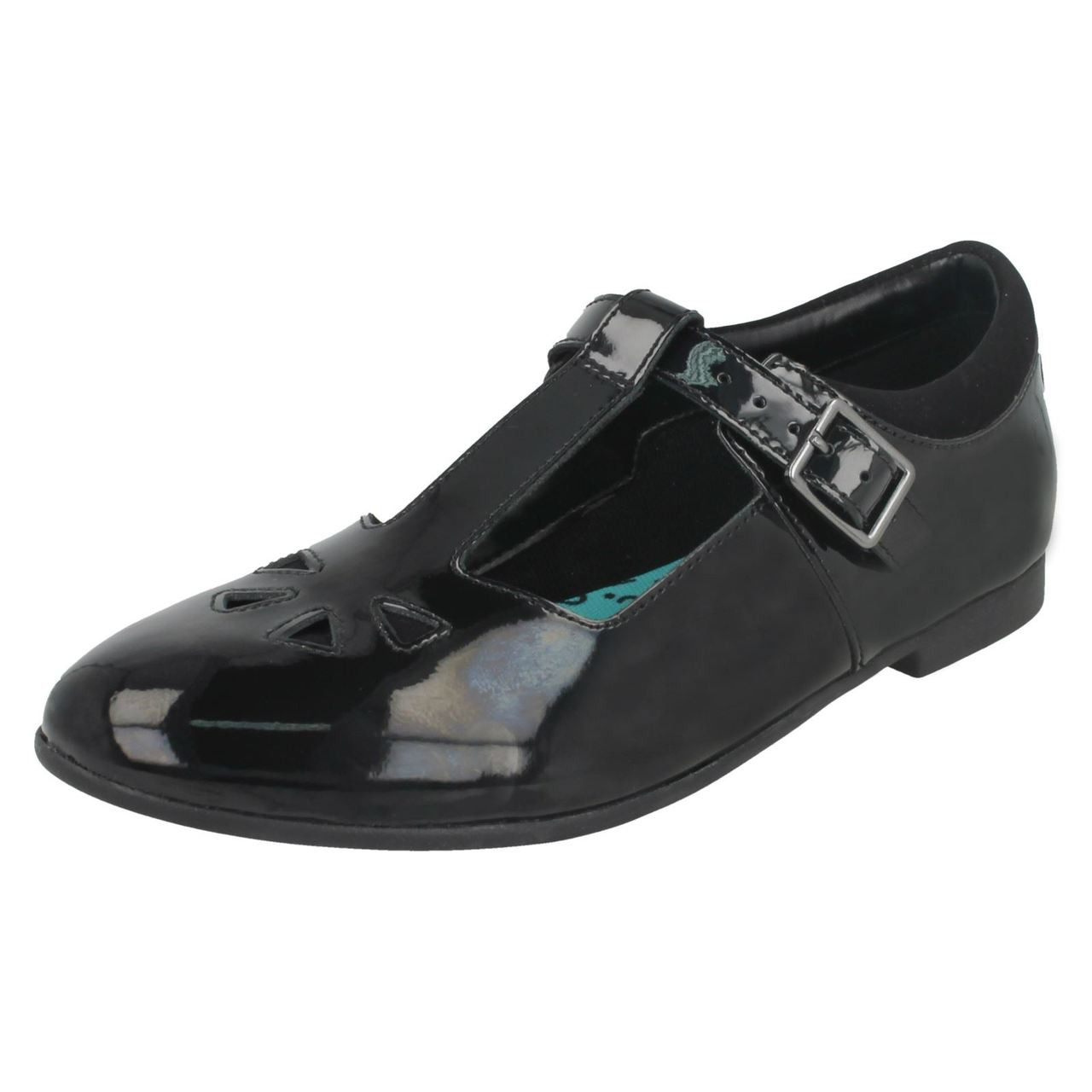 Girls Bootleg By Clarks Buckle T-Bar School Shoes Selsey Play