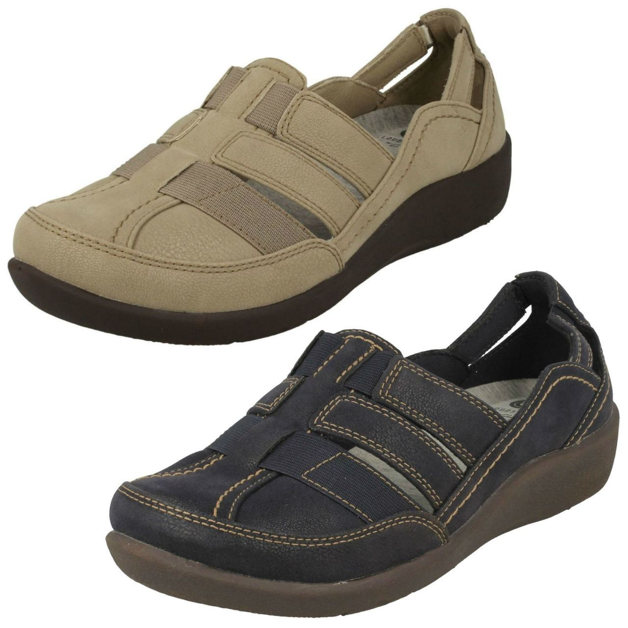 Ladies Clarks Slip On Casual Shoes