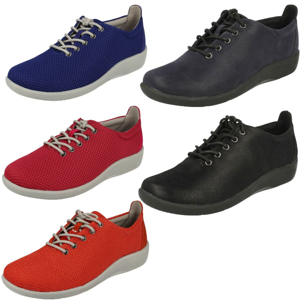Ladies Clarks Cloud Steppers Lace Up