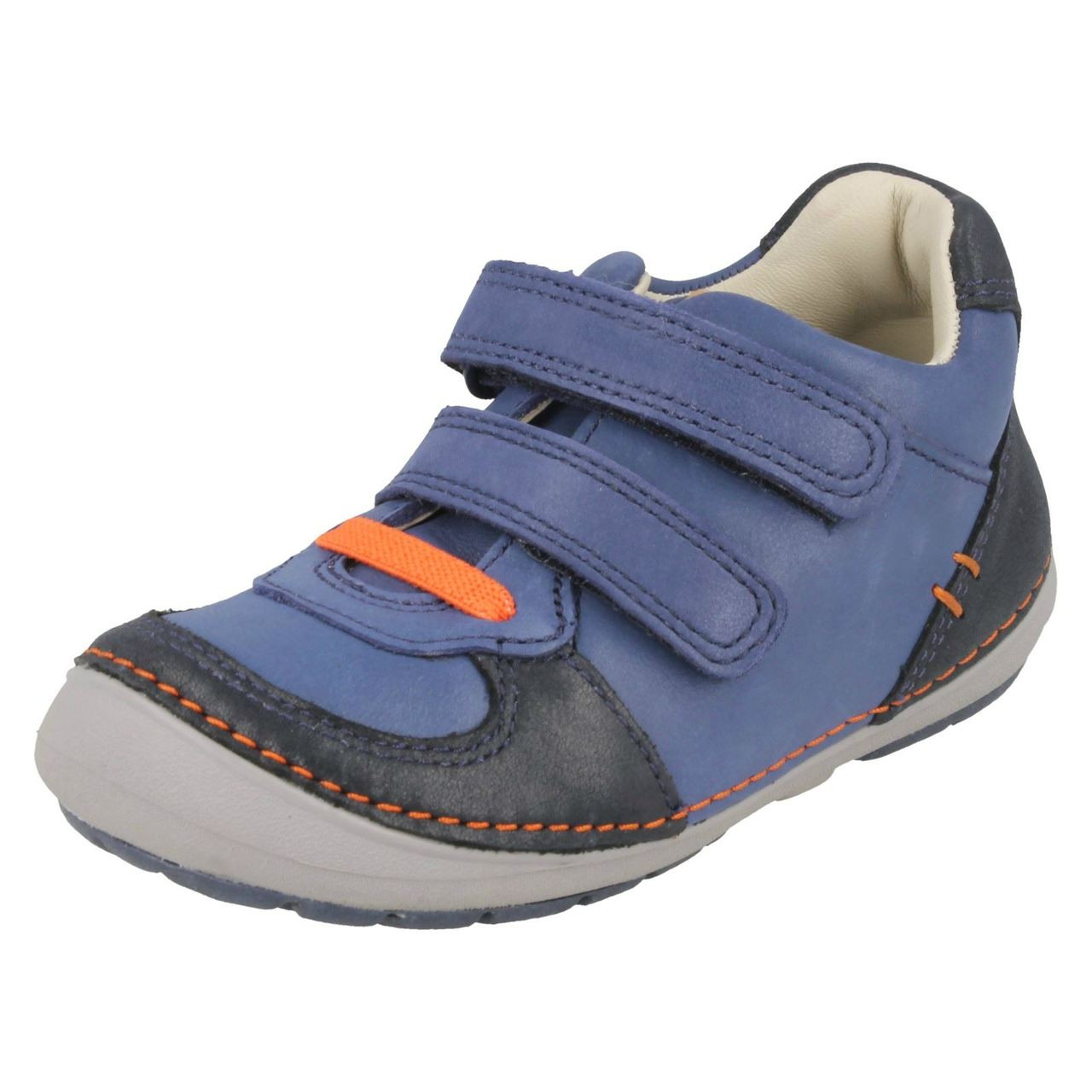 Boys Clarks Casual Hook And Loop Fastening Shoes Emery Walk K
