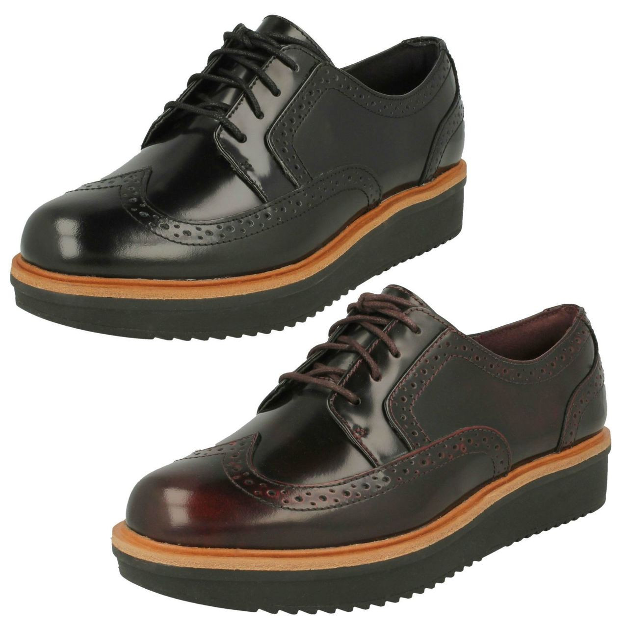 Ladies Clarks Casual Brogue Style Shoes
