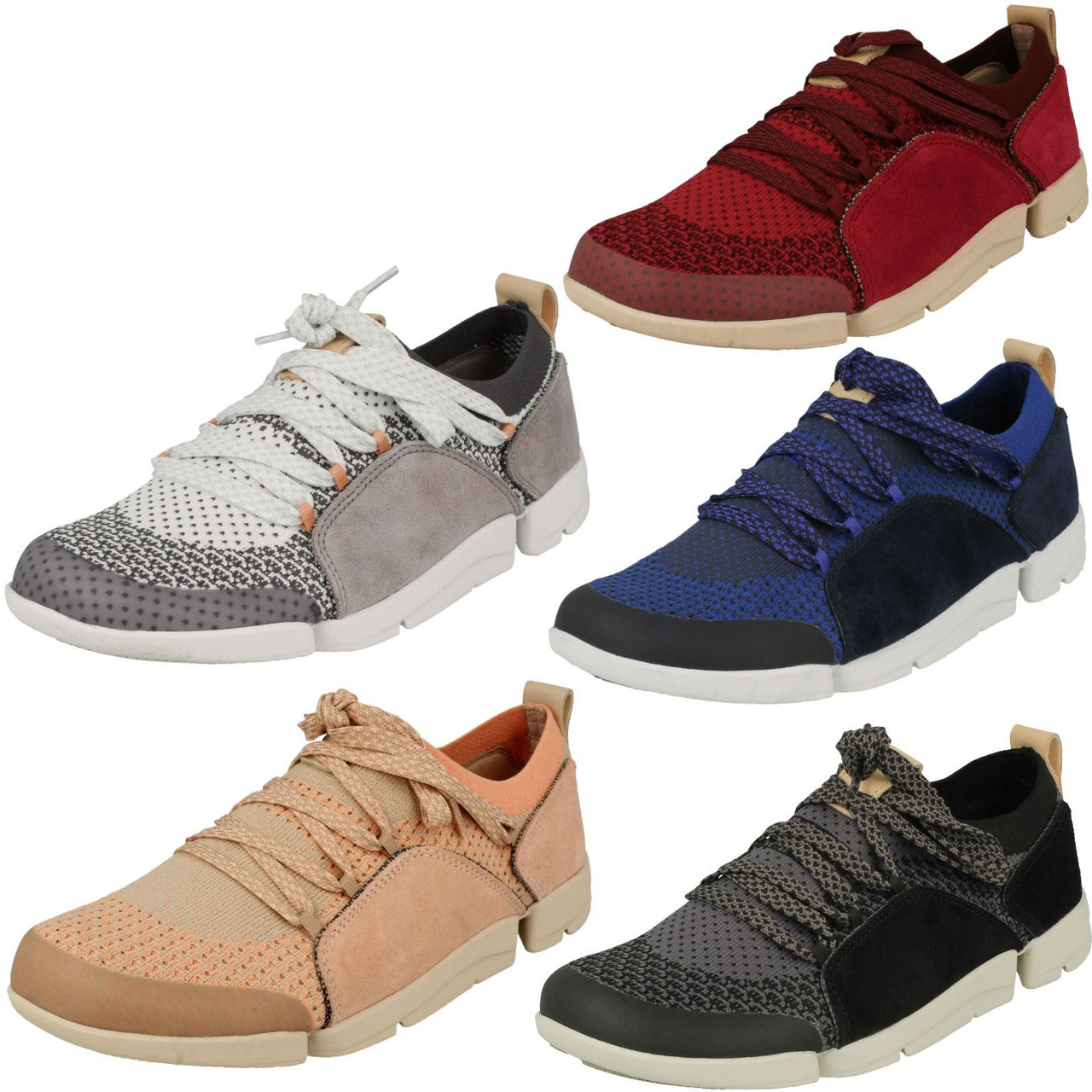 Ladies Clarks Casual Lace Up Trainers