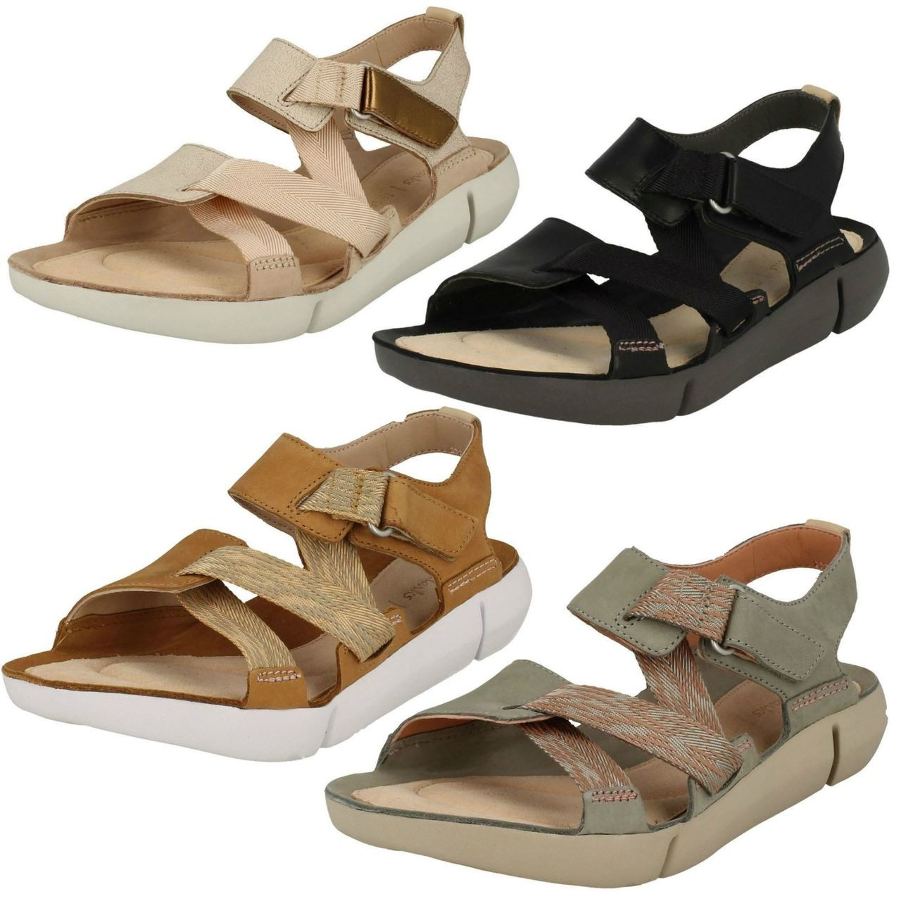 Ladies Clarks Sporty Sandals Tri Clover