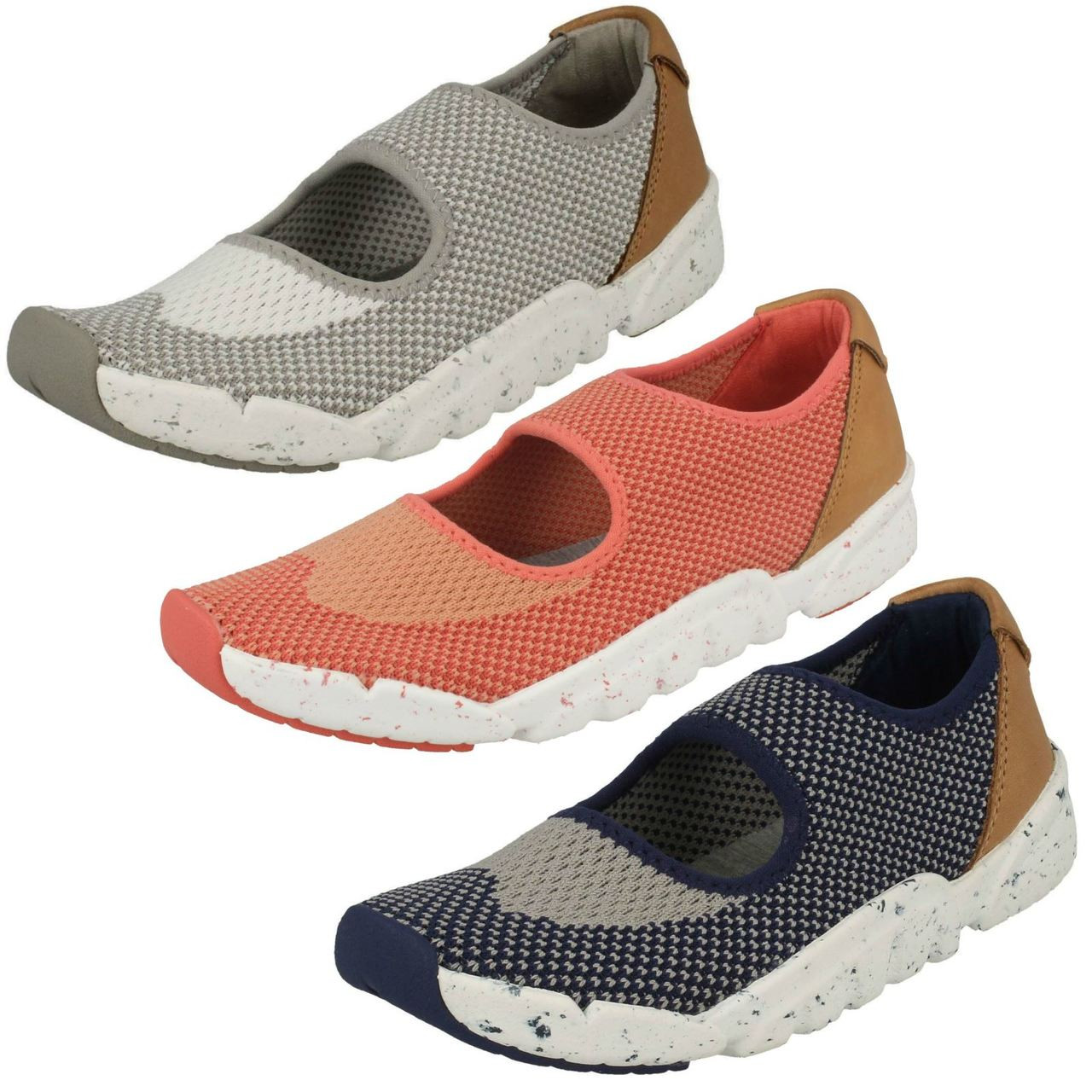 Girls Boys Childrens Clarks Casual Textile Pull On Trainers Sprint Flux