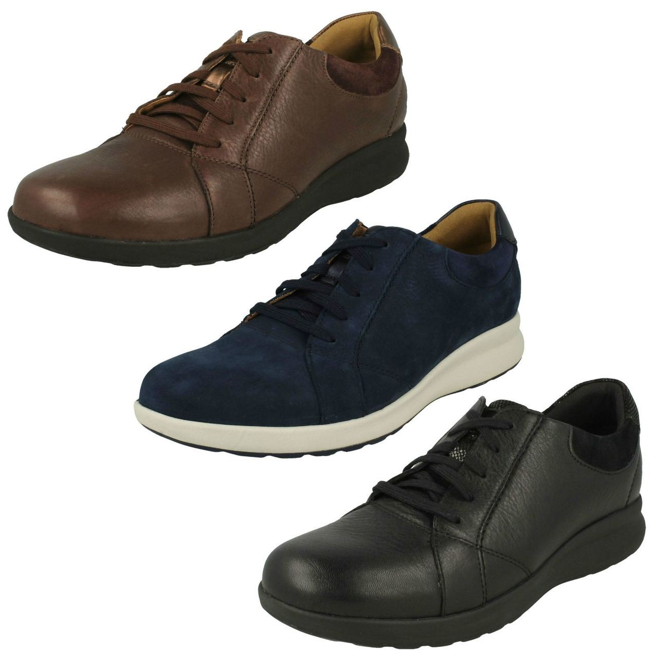Ladies Clarks Unstructured Lace Up