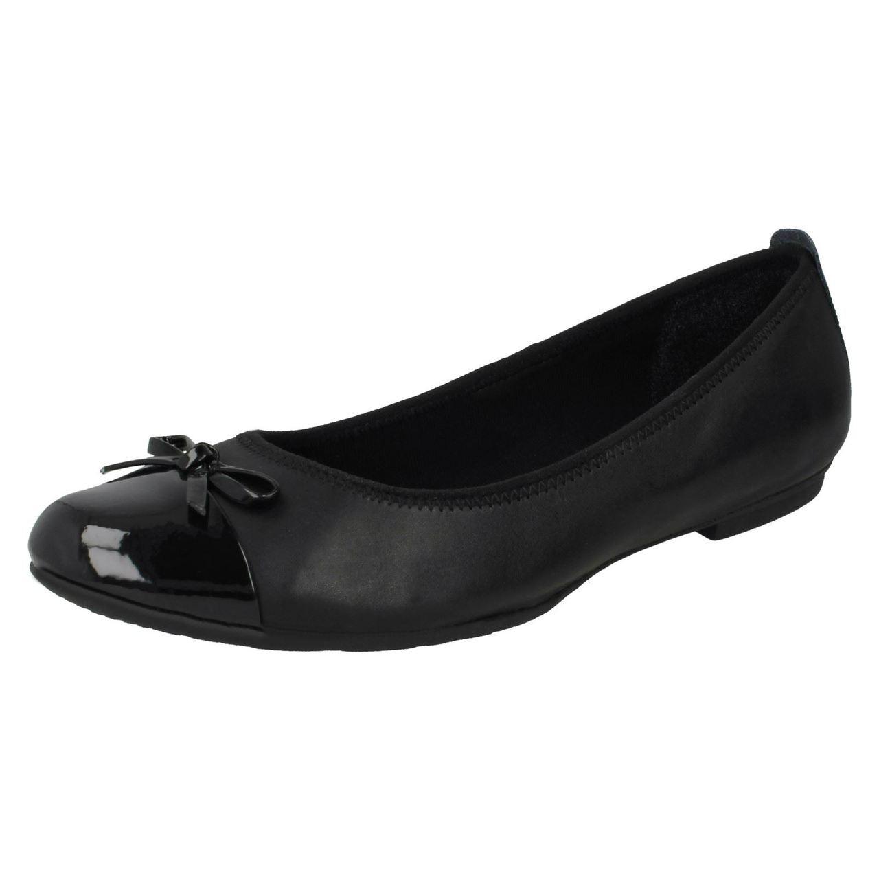 Clarks Ballerina School Shoes Una Ivy
