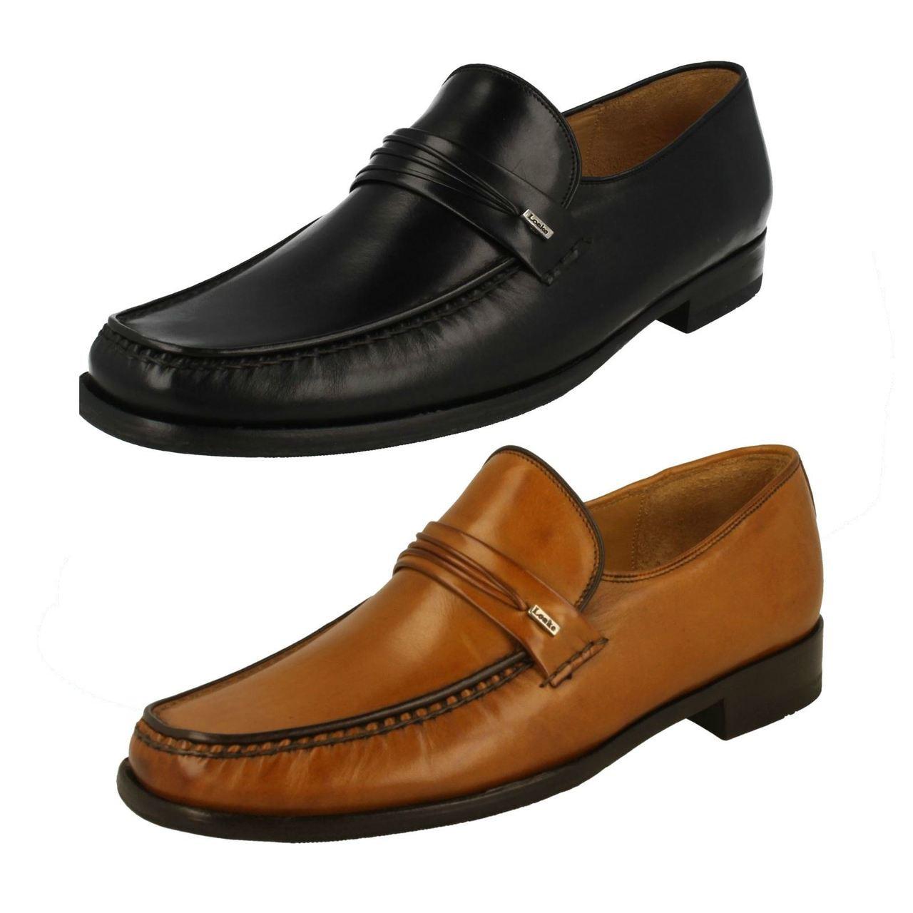 Mens Loake Leather Moccasin Slip On