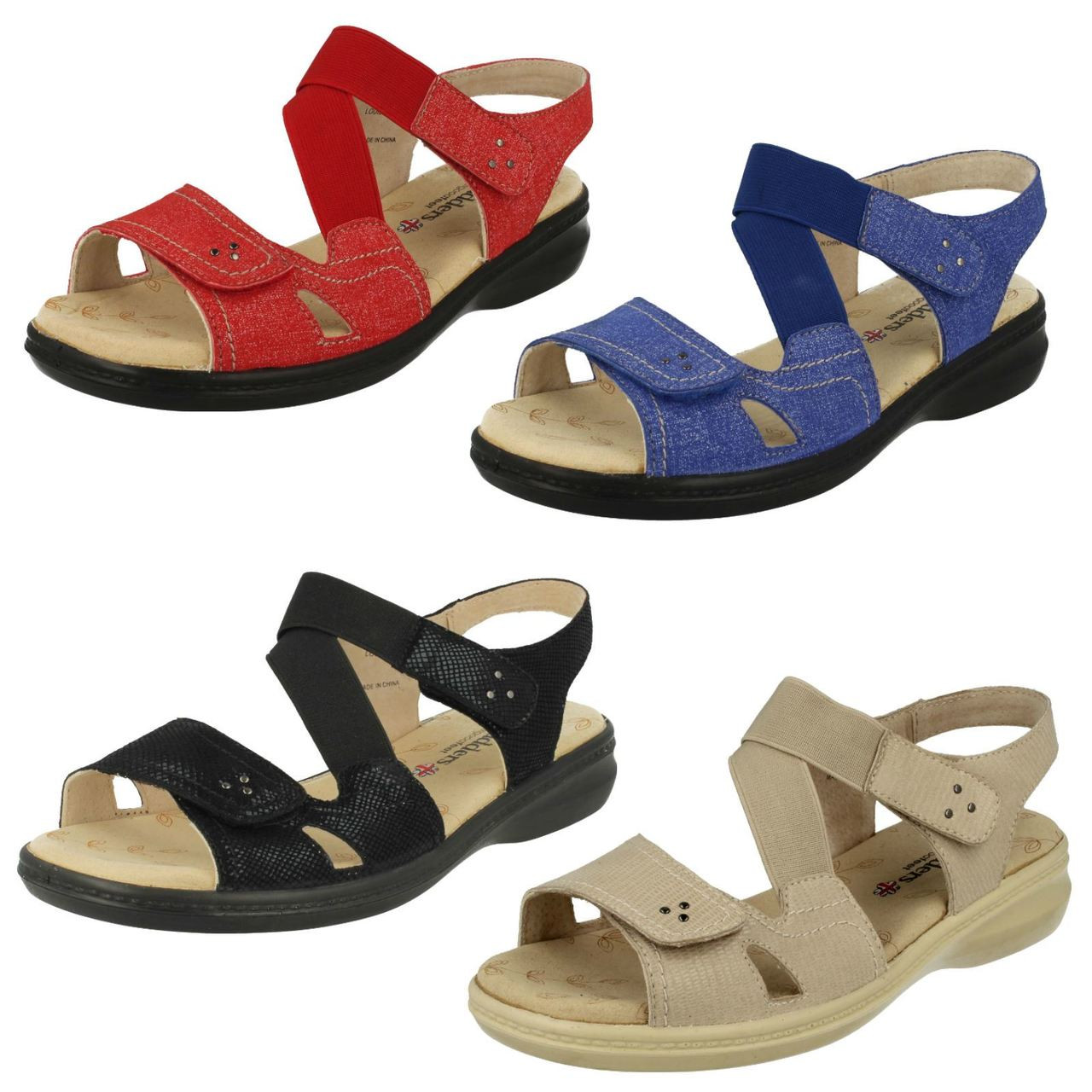 Ladies Padders Wide Fit Sandals Louise