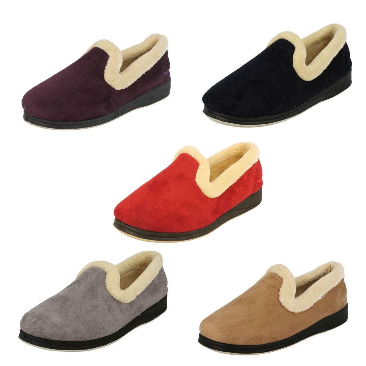 Ladies Padders Wide Fit Slippers Repose