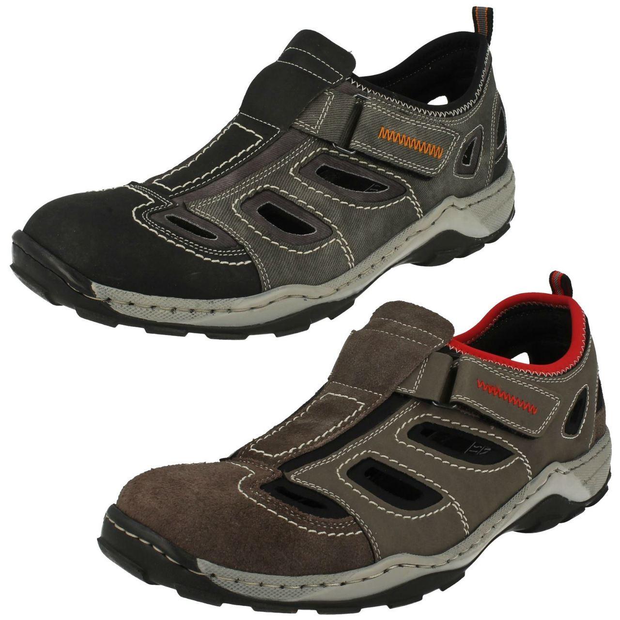 08075 25 Mens Brown hook and loop shoes