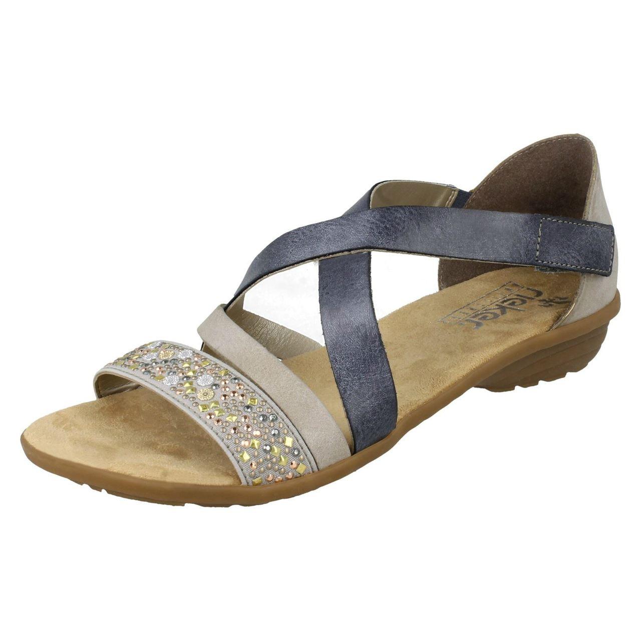 Ladies Rieker Strappy Sandals V3405