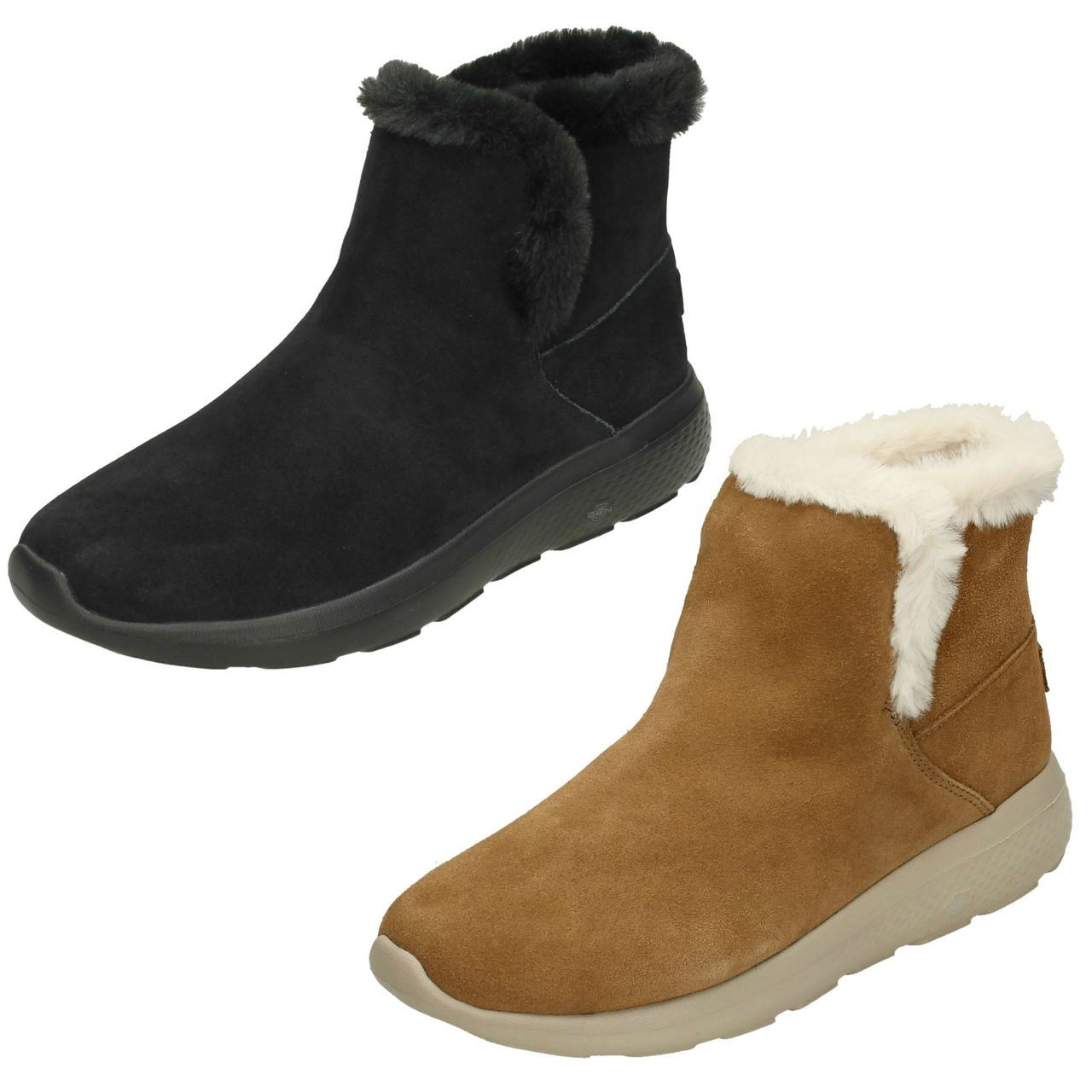 Ladies Skechers Fur Lined Ankle Boots