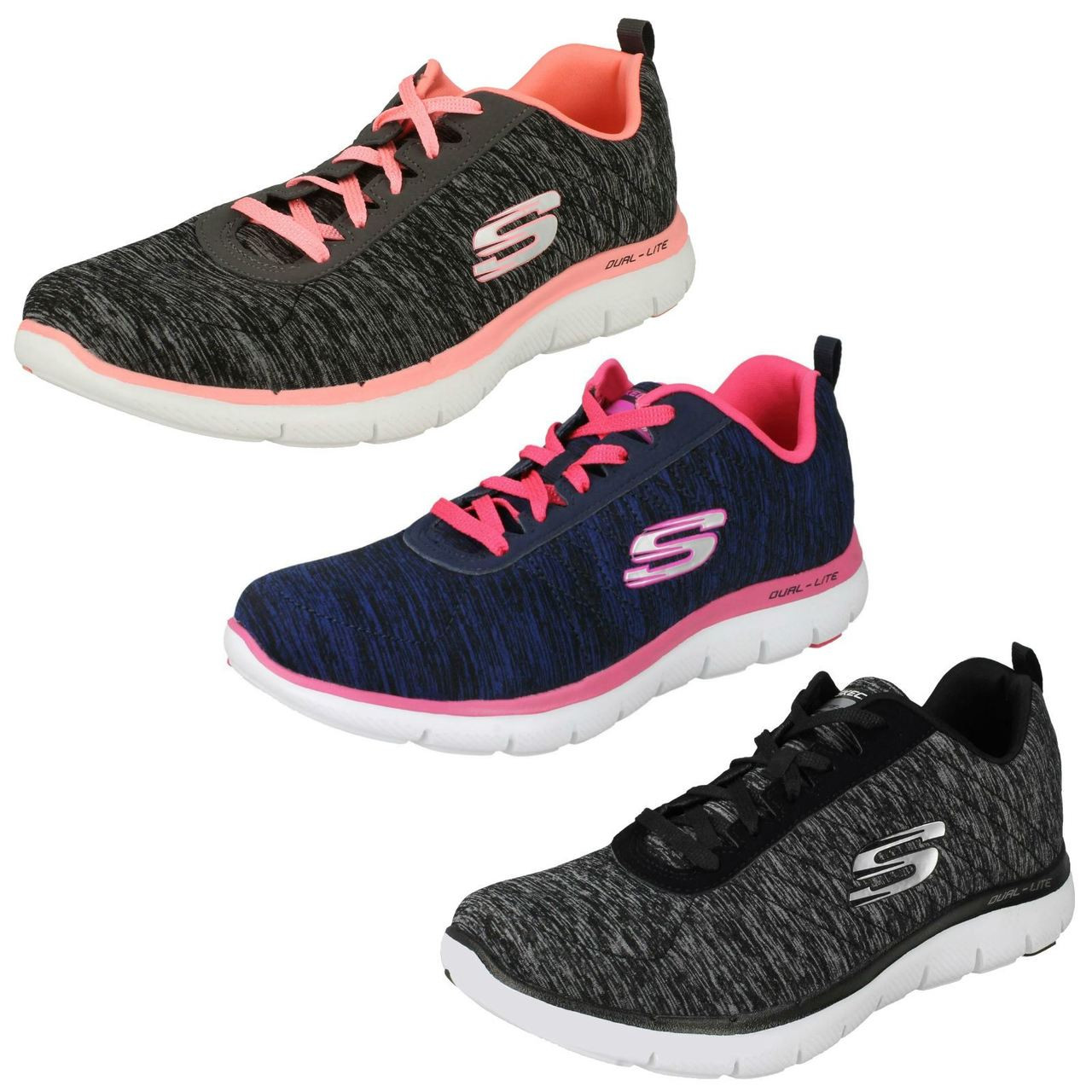 ladies memory foam trainers