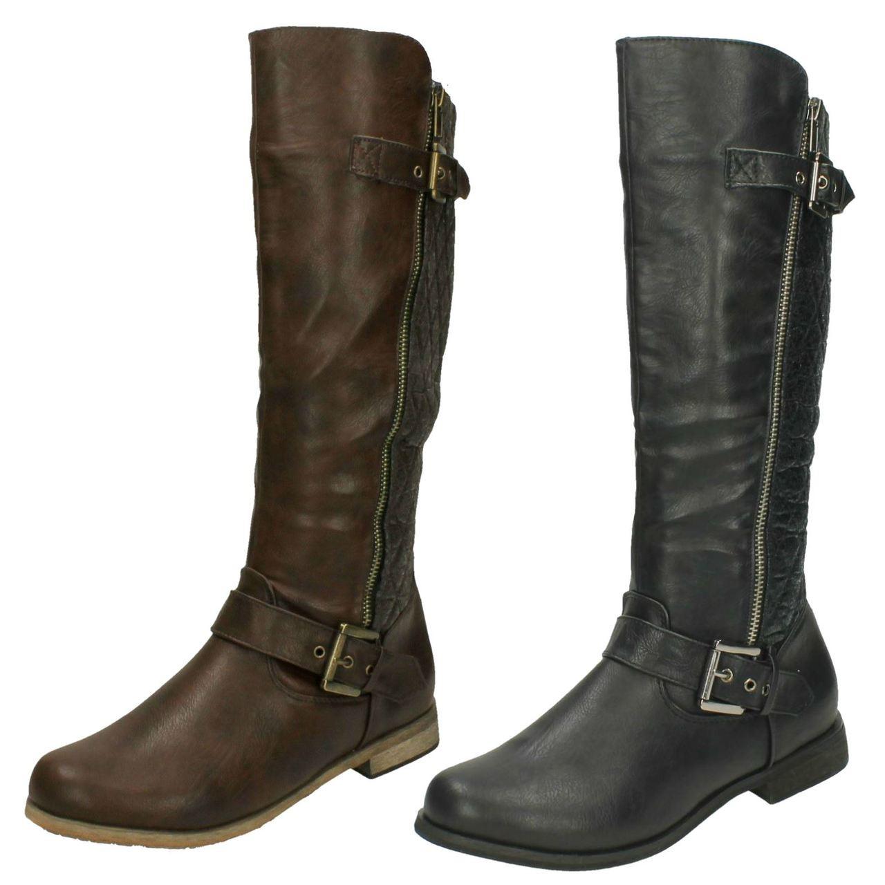 Ladies Spot On Calf Length Boots