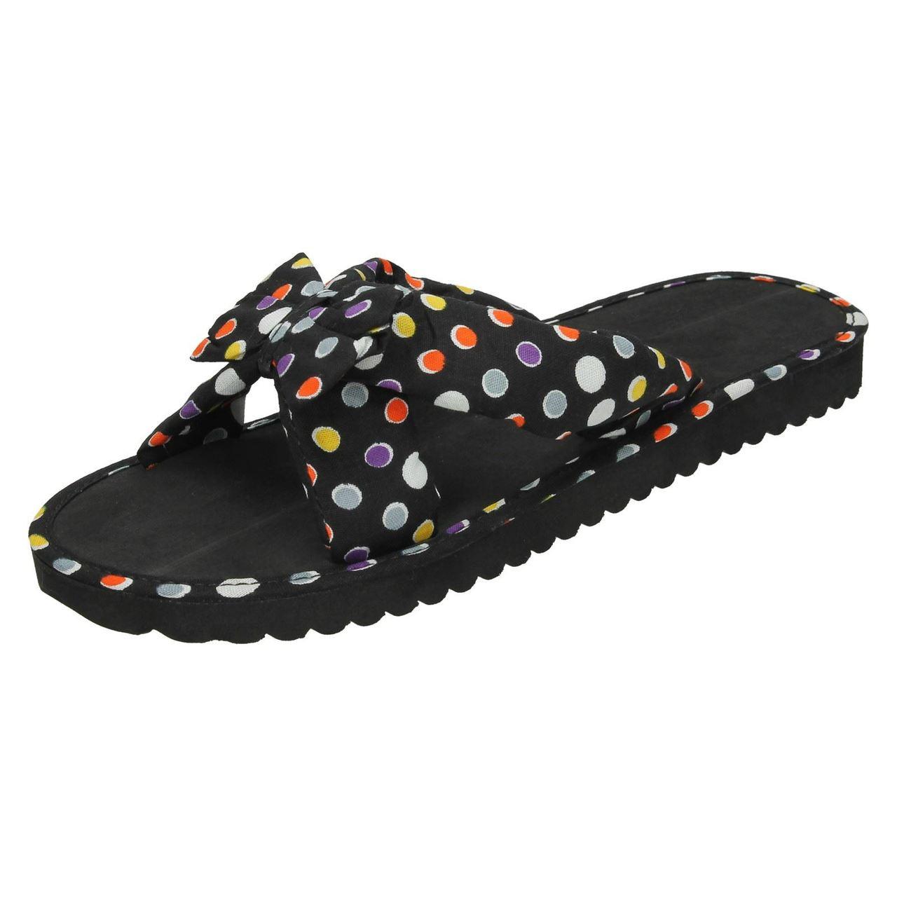 Ladies Spot On Summer Mule Sandals F1R0989