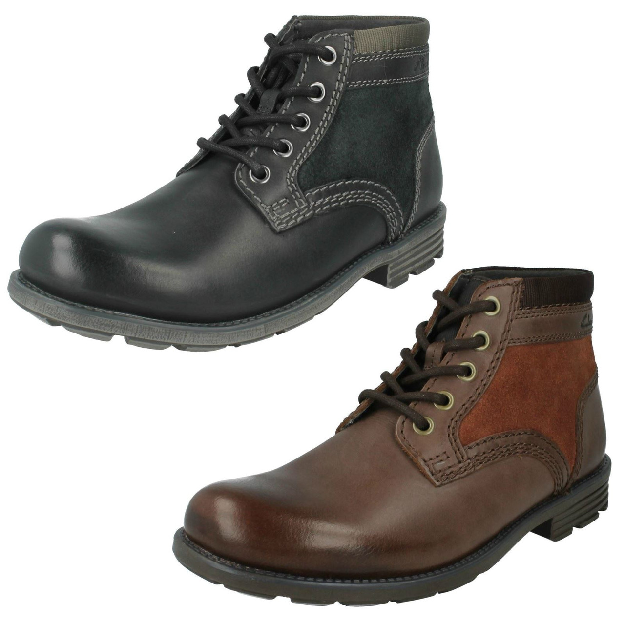 Mens Clarks Casual Ankle Boots Darian Mid