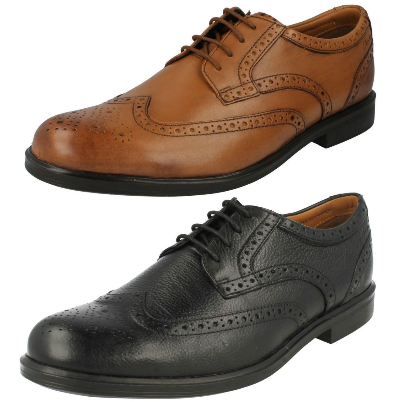 Mens Clarks Formal Brogue Shoes Gabson