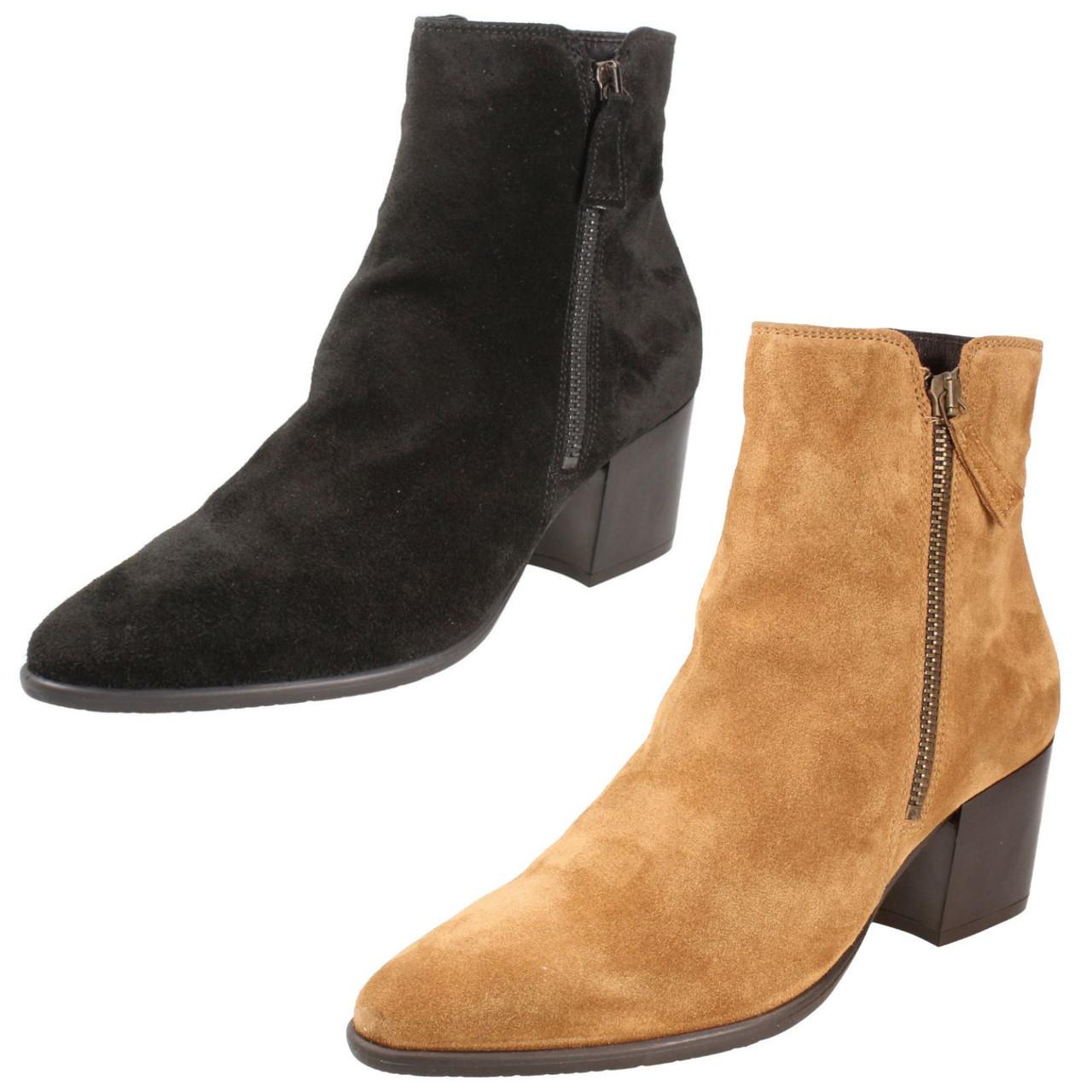 Ladies Clarks Heel Ankle Boots Isabella Zip