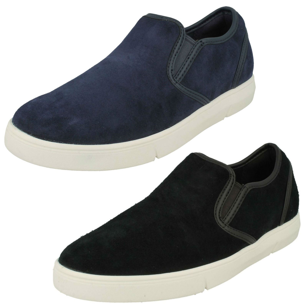 Mens Clarks Casual Slip On Shoes Landry