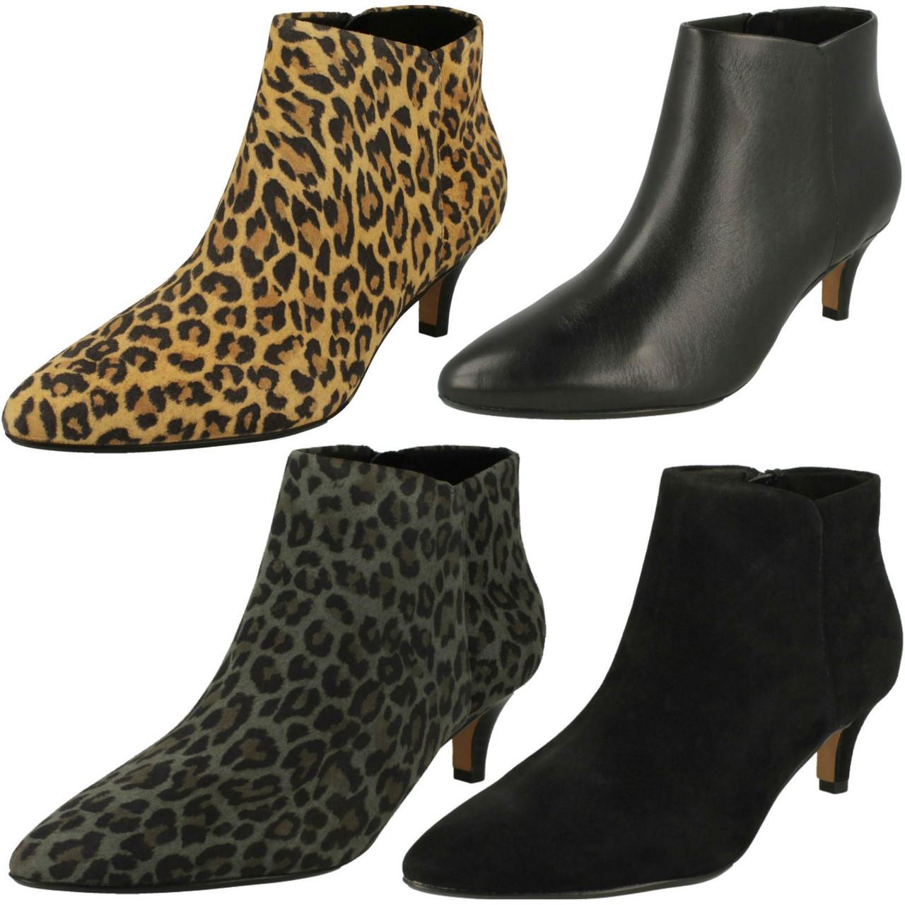 Ladies Clarks Kitten Heel Ankle Boots