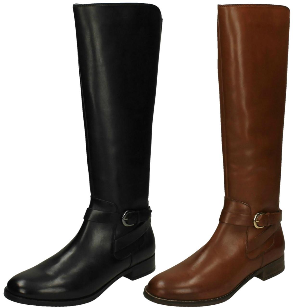 Ladies Clarks Knee High Boots Netley Whirl