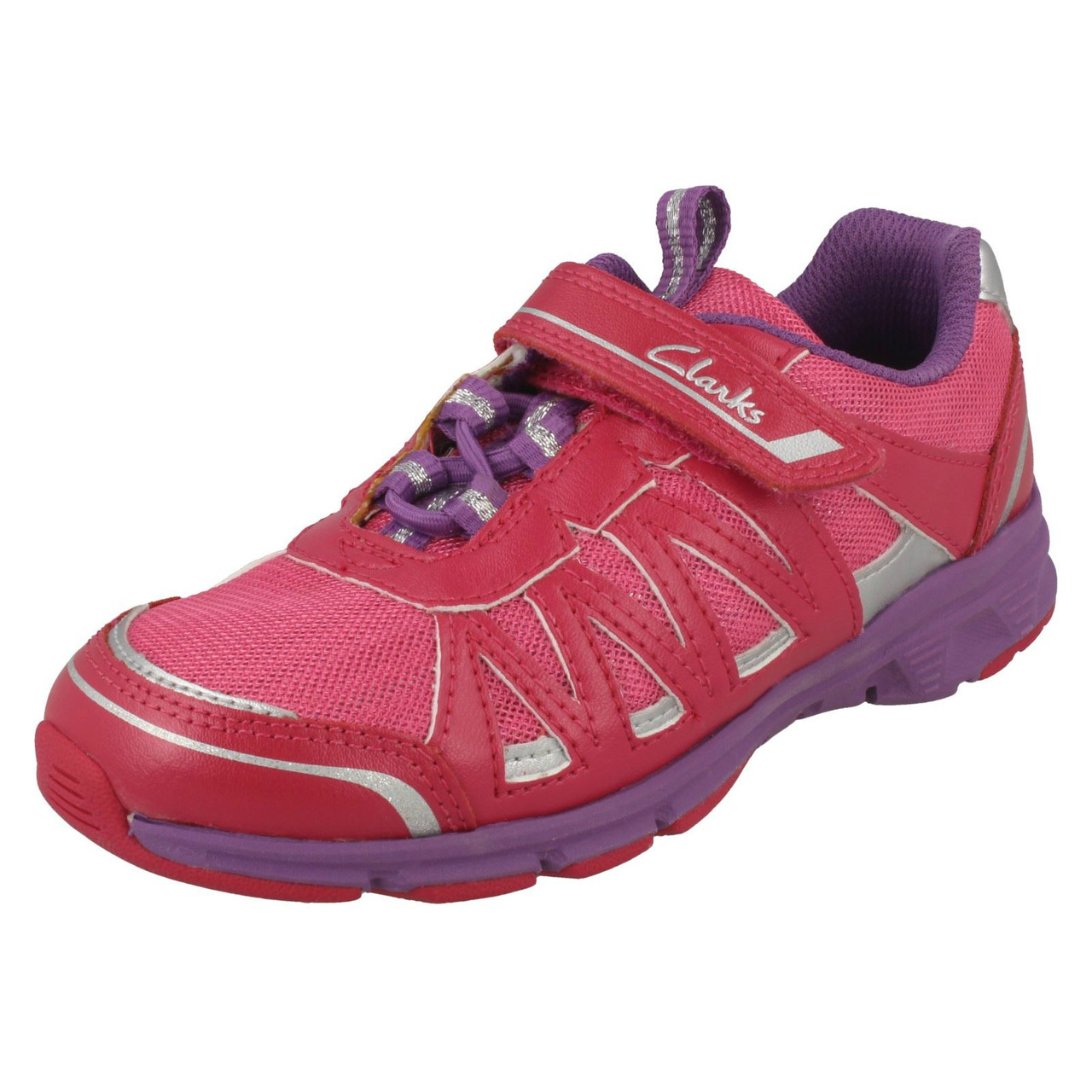Girls Cica by Clarks Trainers /'Trace Star/'